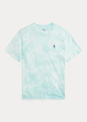 Ralph Lauren Hawaiian-Print Cotton Jersey Tee