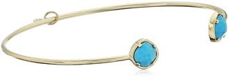 Tai Gold Turquoise Open Cuff Bracelet