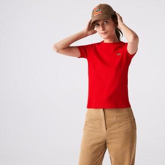 Lacoste Womens Soft Cotton Crew Neck T-shirt