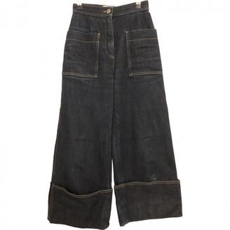 Fendi Blue Cotton Jeans for Women