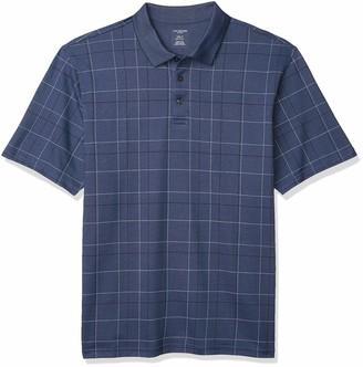 Van Heusen Men's Big & Tall Big and Tall Flex Short Sleeve Stretch Windowpane Polo Shirt