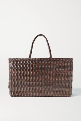 DRAGON DIFFUSION Max Large Woven Leather Tote - Dark brown