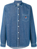Kenzo tiger embroidered denim shirt - men - Cotton - S