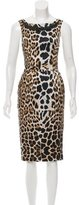 Blumarine Leopard Print Silk Dress