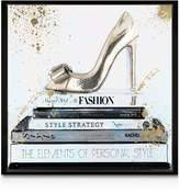 Oliver Gal Gold Shoe Wall Art, 16 x 16