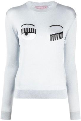Chiara Ferragni embroidered Flirting jumper