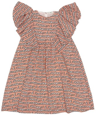 Fendi hearts print dress