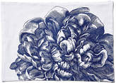 One Kings Lane Set of 4 Peony Place Mats - Blue/White