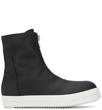 Rick Owens Zip-Up Hi-Top Sneakers