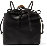 Marni Leather And Shell Backpack - Black