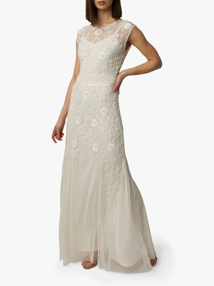 Raishma Alice Embellished Bridal Gown, White Ivory