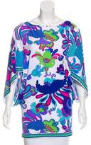 Trina Turk Printed Short Sleeve Blouse