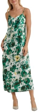 Lucky Brand Natalie Floral-Print Slip Dress