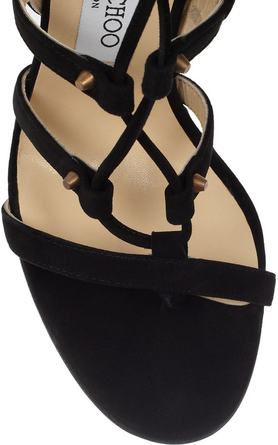 Jimmy Choo Mogul studded suede cage sandals