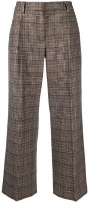 Lardini Feniceda cropped check trousers