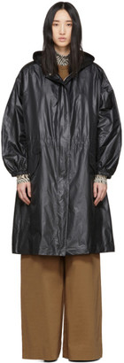 Joseph Black Shiny Coated Lennon Coat