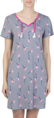 Claudel Sunny Days Butterfly-Print Short Nightgown