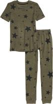 PJ Salvage Star Print Fitted Two-Piece Pajamas