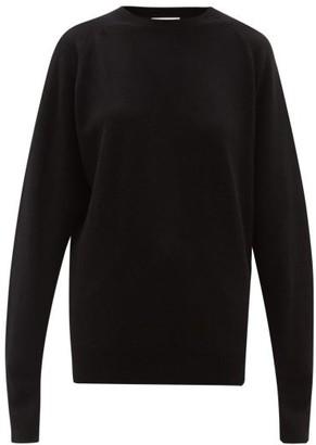 Raey Raglan-sleeve Boyfriend Cashmere Sweater - Womens - Black
