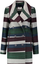 Carven Striped wool-blend felt coat
