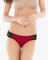 Soma Intimates Vanishing Edge Microfiber with Lace Bikini
