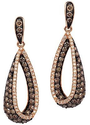 Effy Diamond 14K Rose Gold Drop Earrings