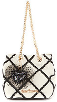 Betsey Johnson Cross Your Heart Drawstring Bucket Bag