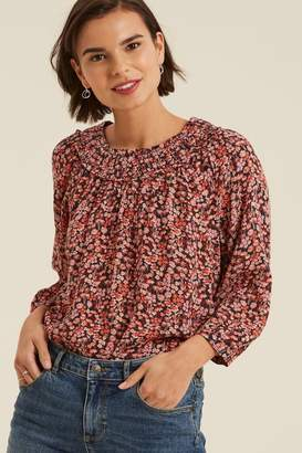 Fat Face Womens FatFace Black Ellia Prairie Meadow Blouse - Black