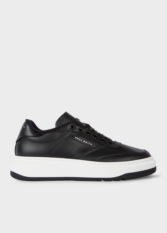 Paul Smith Men's Black Calf Leather 'Hackney' Sneakers