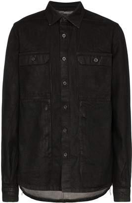 Rick Owens waxed cotton shirt jacket