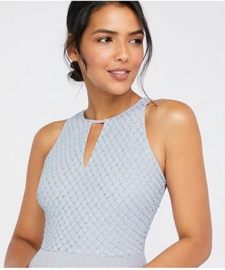 Monsoon Sophia Embellished Tulle Maxi Dress - Blue
