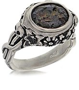 Jade Jagger Women's 925 Oxidised Sterling Silver Labradorite Skull Cocktail Ring - Ring N