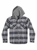Quiksilver NEW QUIKSILVERTM Boys 8-16 Snap Up Long Sleeve Hooded Shirt Boys Teens Tops