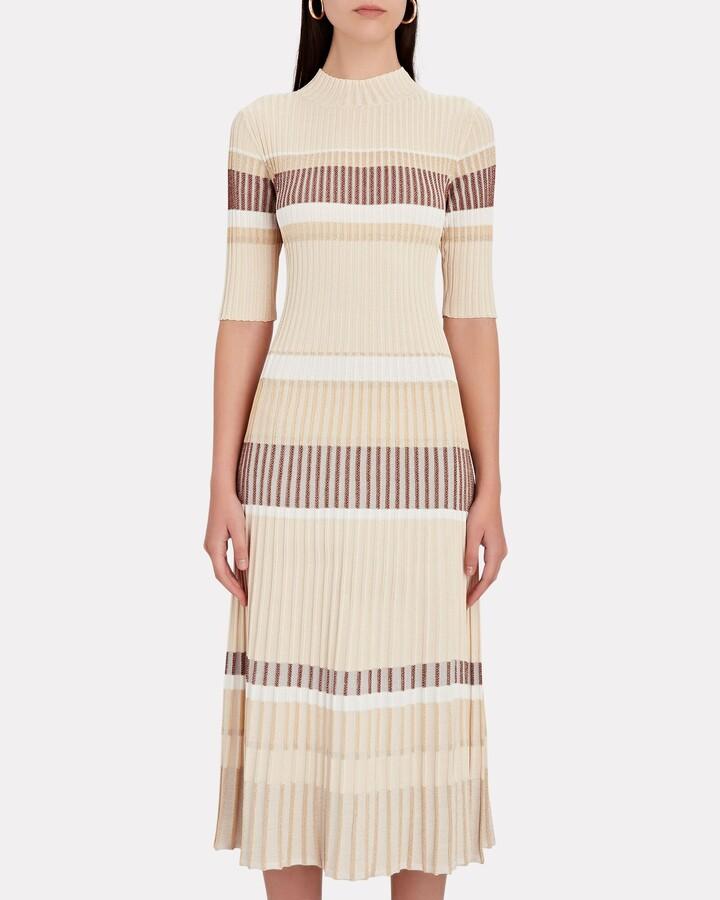 Thumbnail for your product : Proenza Schouler Zig-Zag Stripe Rib Knit Midi Dress