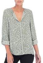 B Collection by Bobeau Floral Ditsy Top