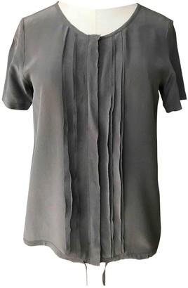 Les Petites Khaki Silk Top for Women