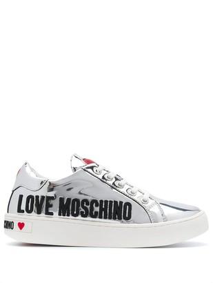 Love Moschino Gummed Logo Low-Top Sneakers