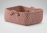 Ethan Allen Small Red and White Basket
