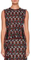 Emporio Armani Sleeveless Jacquard Top With Front Zip