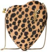 Saint Laurent leopard print Love Box clutch