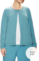 Lafayette 148 New York Women's Relaxed Lace Back Cardigan