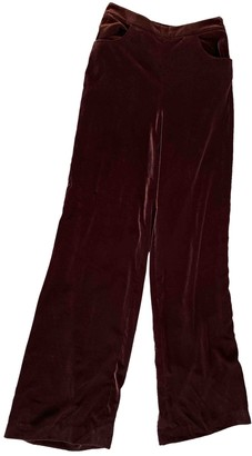 Whistles Purple Velvet Trousers for Women