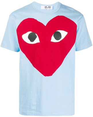 Comme des Garcons Red Heart logo T-shirt