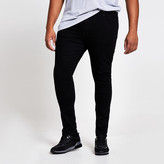 River Island Big and Tall black Danny super skinny jeans