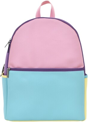 Iscream Colorblock Faux Leather Backpack