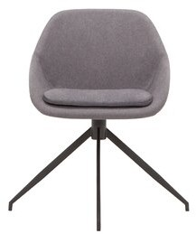 Nixon Upholstered Dining Chair EQ3 Upholstery Color: Dark Gray