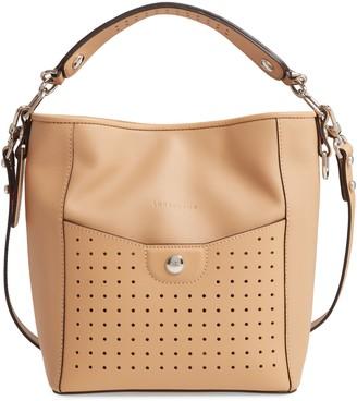 Longchamp Small Mademoiselle Leather Bucket Bag