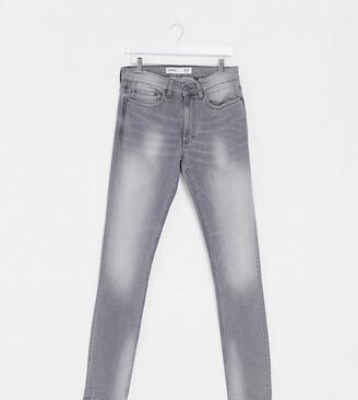 Burton Menswear Big & Tall skinny jeans in grey
