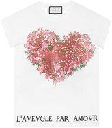 Gucci Floral print cotton t-shirt