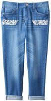 Mudd Girls 7-16 & Plus Size Crochet Pocket Jean Capris